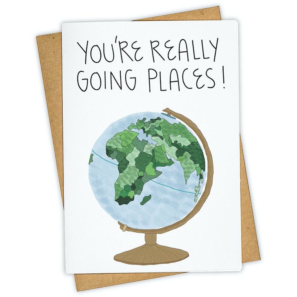 Going Places Globe Card