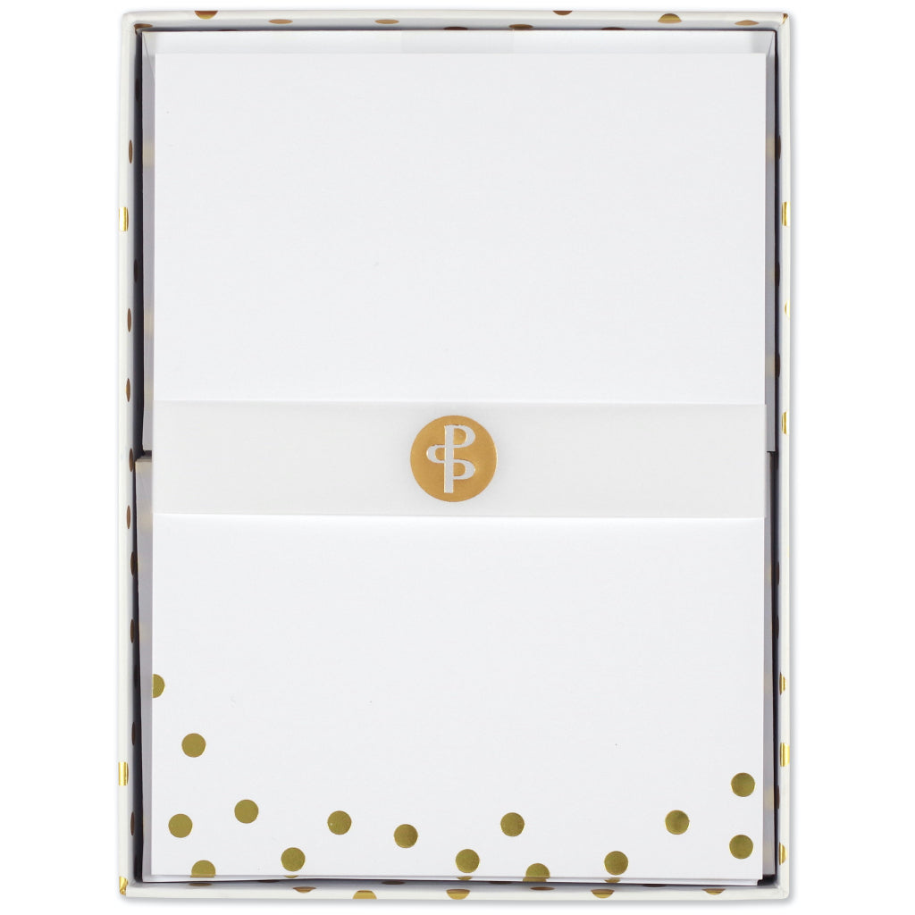 Gold Dots Stationery Set