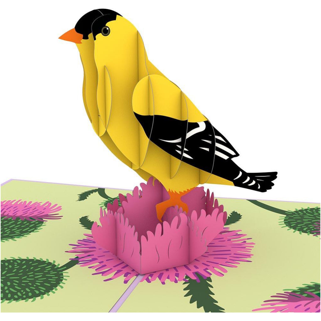 Gold Finch 3D Pop Up Card
