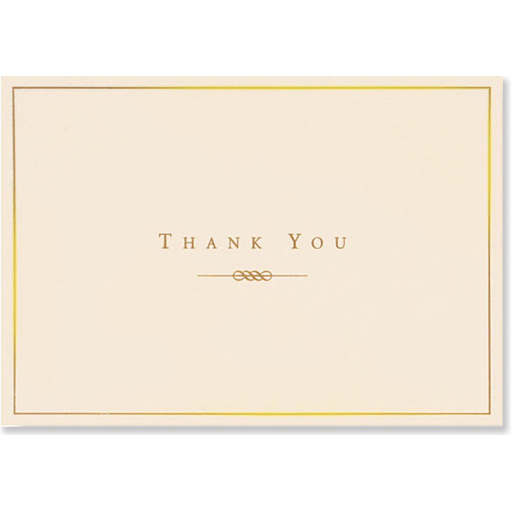 Gold & Cream Boxed Thank You Cards
