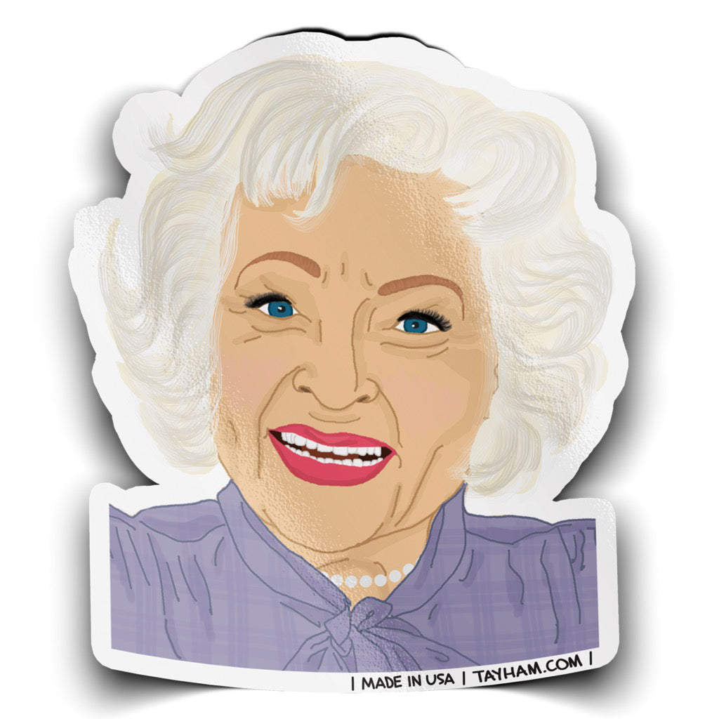 Golden Girls Betty White Sticker