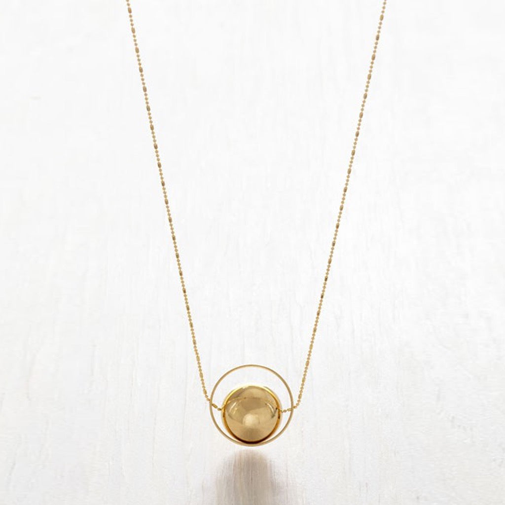 Golden Sphere Necklace
