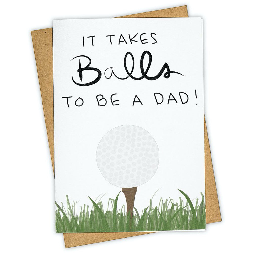 Golf Balls To Be A Dad Card