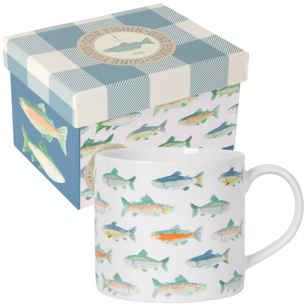 Gone Fishin Mug With Box