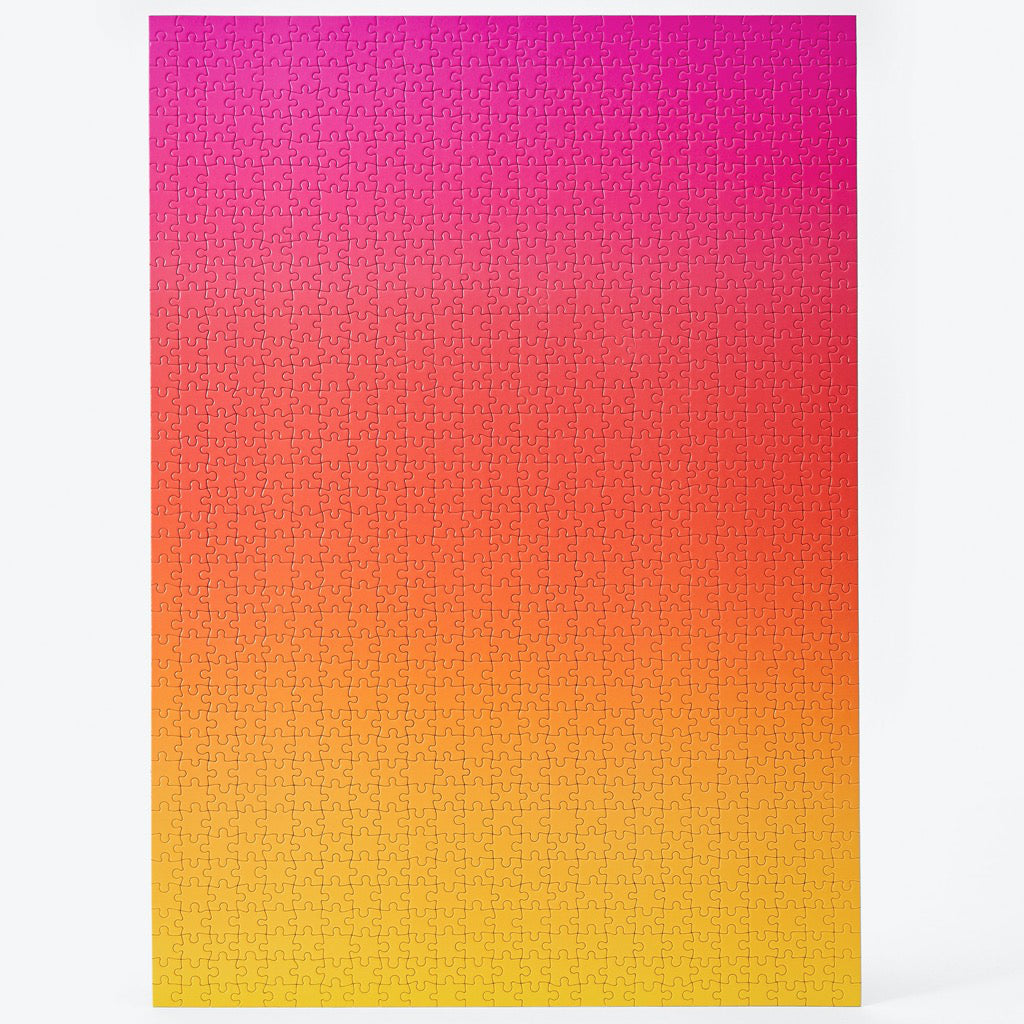 Gradient Puzzle Large – Pink/Yellow