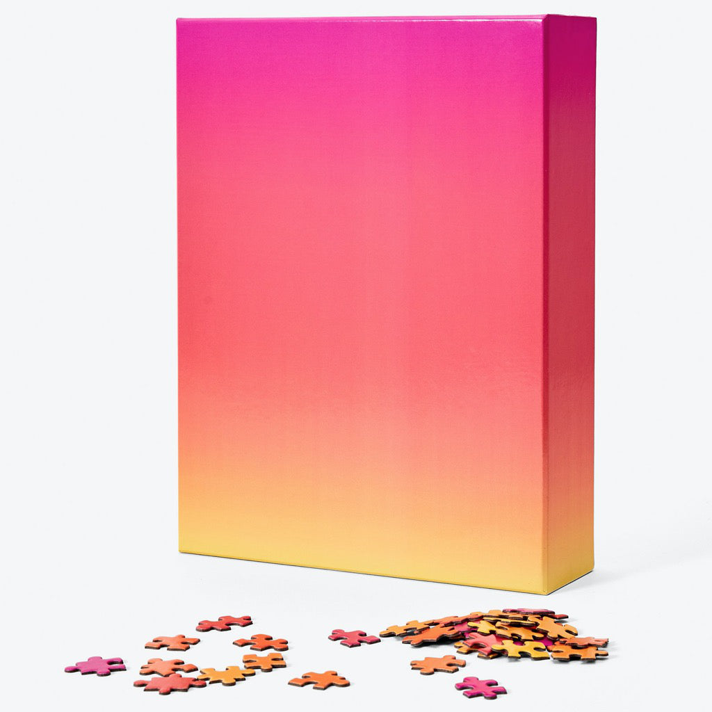 Gradient Puzzle Large – Pink/Yellow Box