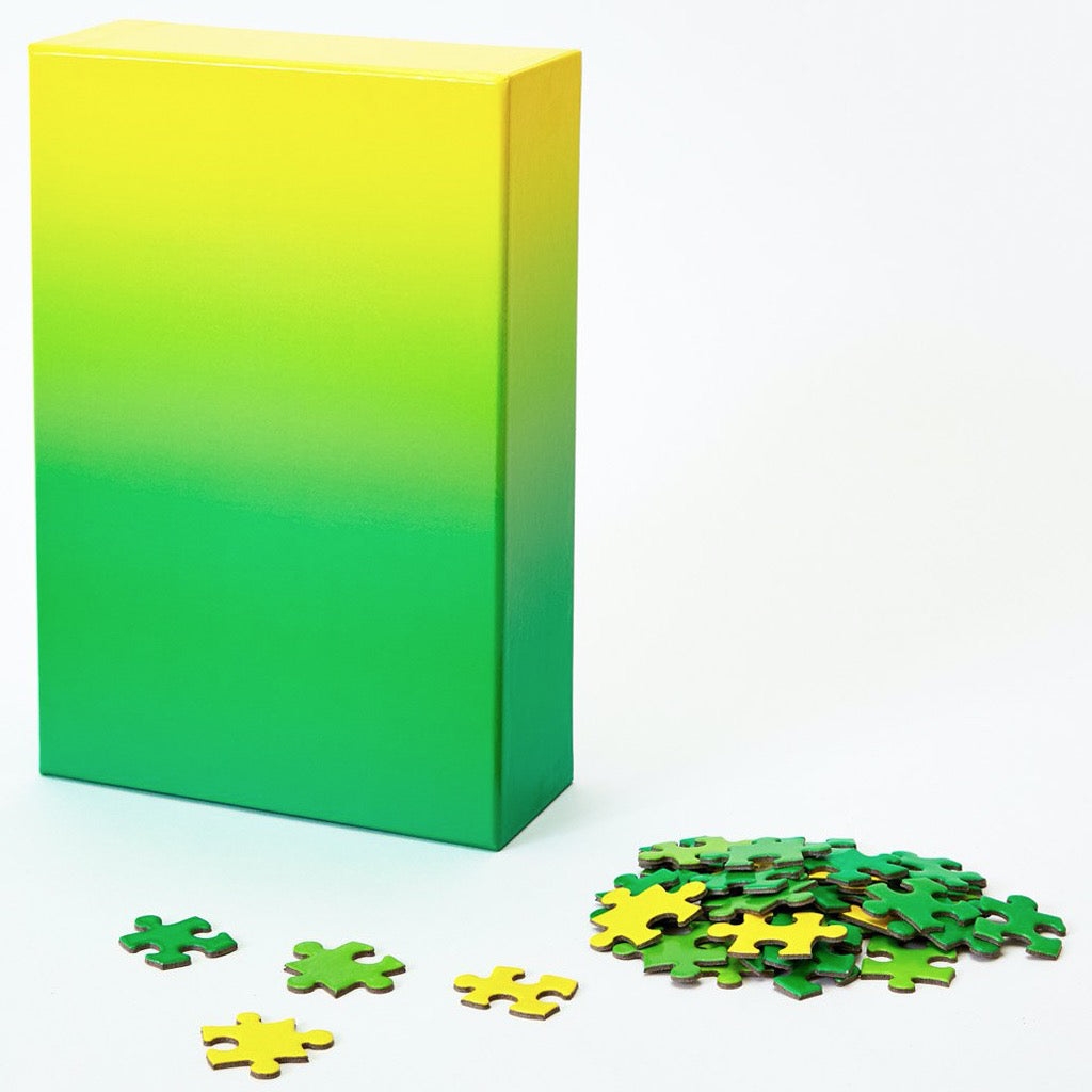 Gradient Puzzle – Green/Yellow Box