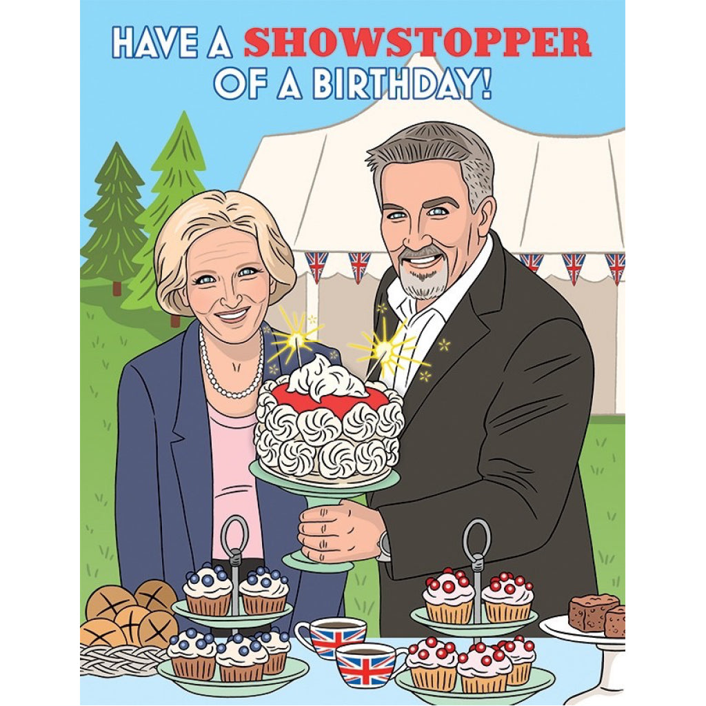 Great Baking Showstopper Birthday Card