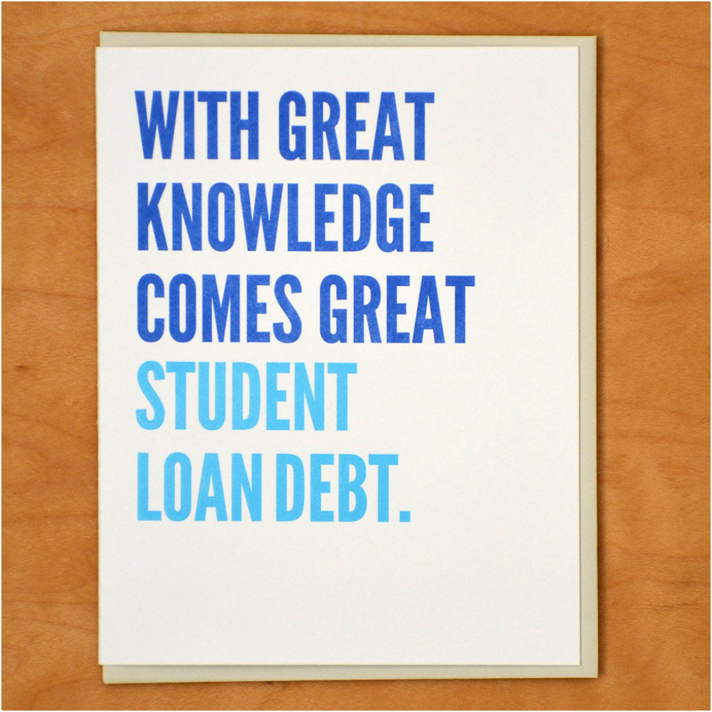 Great Student Loan Debt Card
