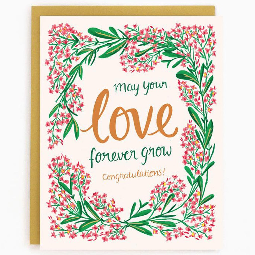 Growing Love Wedding Card