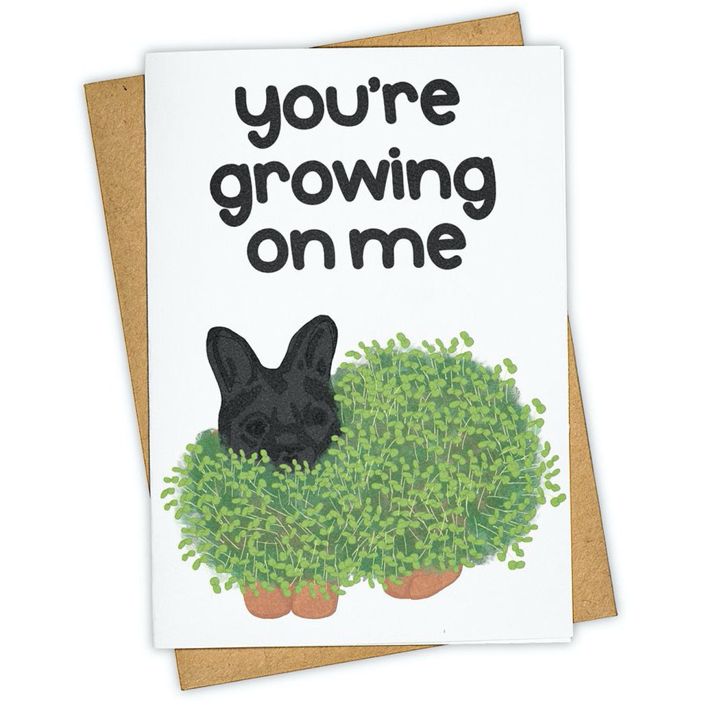 Growing On Me Chia Pet Card