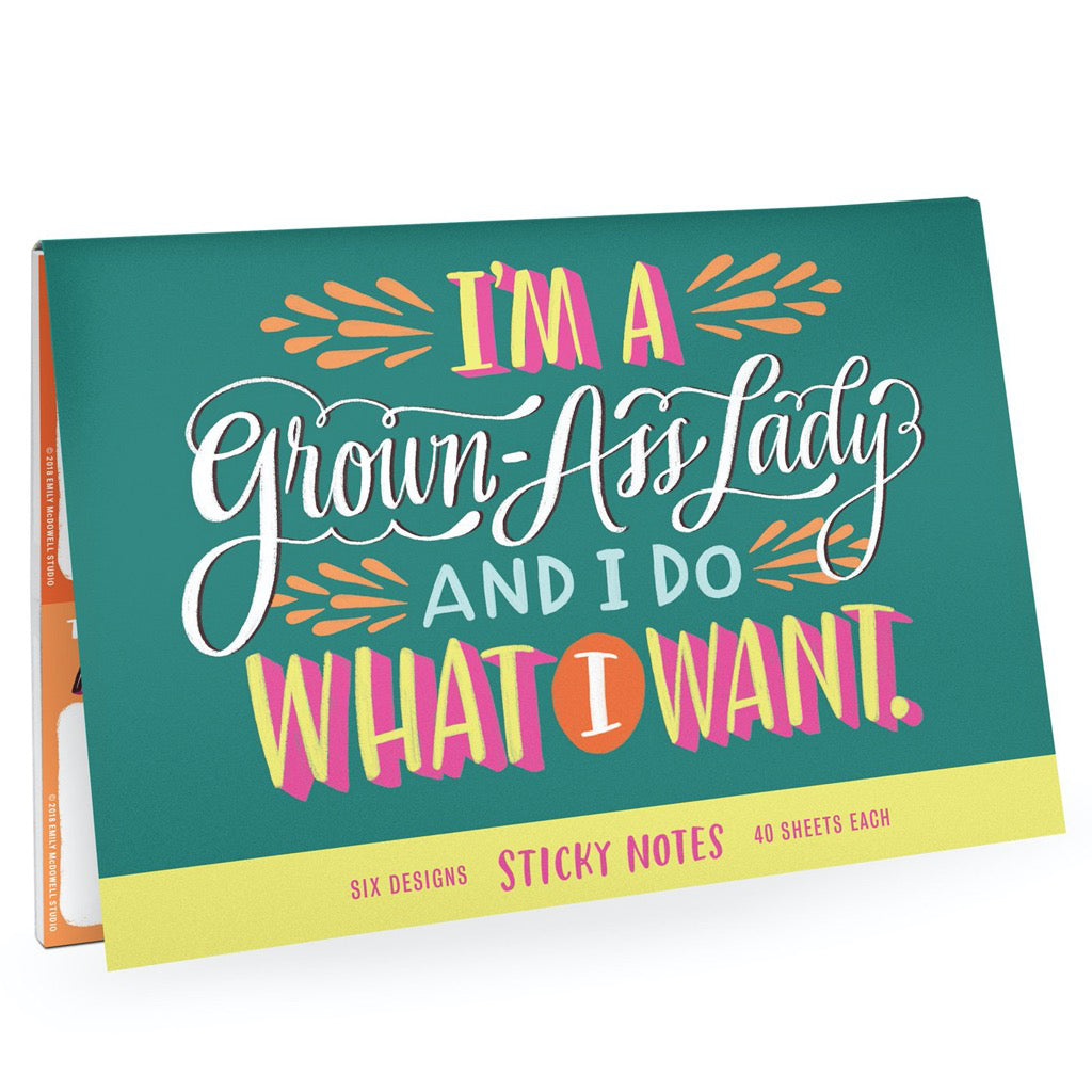 Grown-Ass Lady Sticky Notes Pack