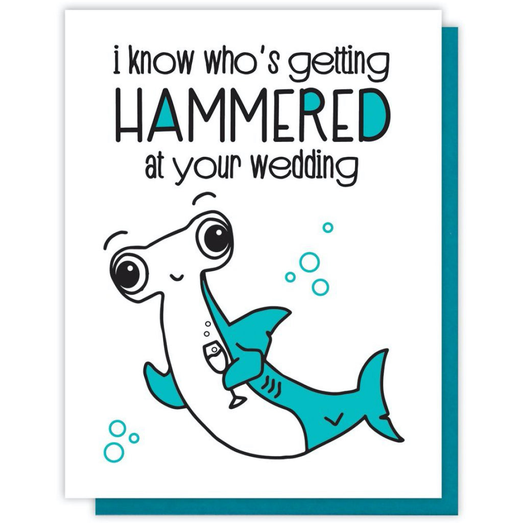 Hammerhead Shark Wedding Card