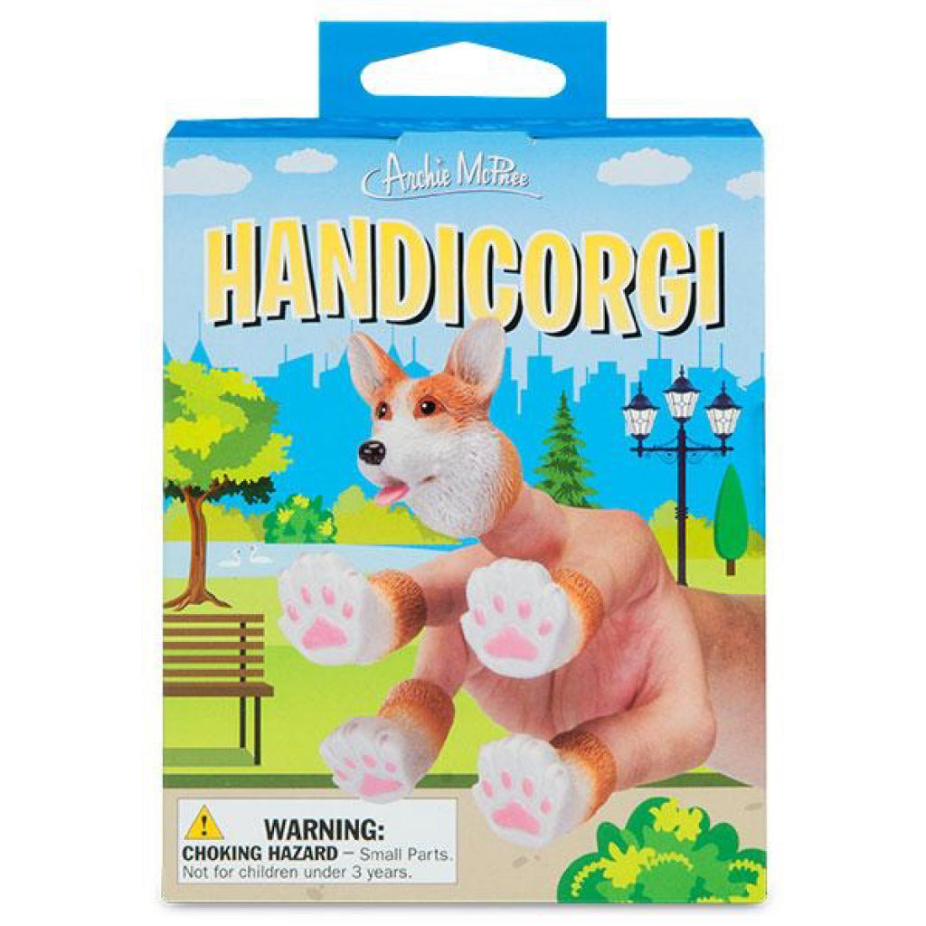 Packaging of Handicorgi Finger Puppet.