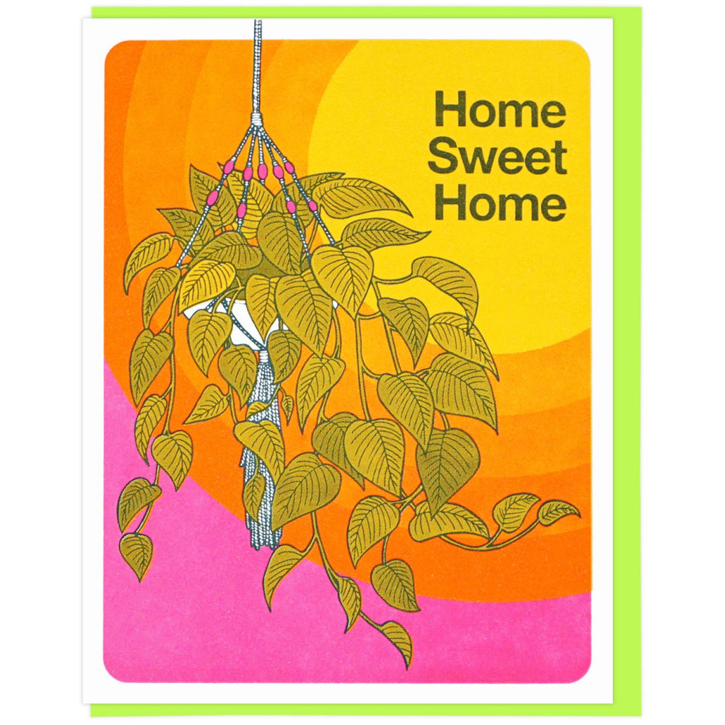 Hanging Plant Home Card