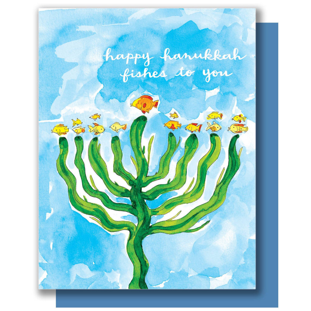 Hanukkah Fish Card