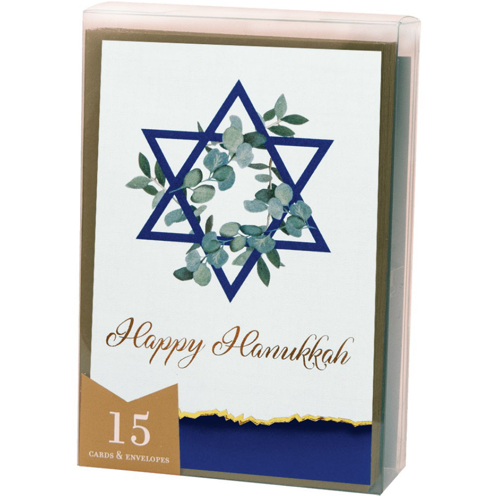 Hanukkah Greenery Boxed Cards