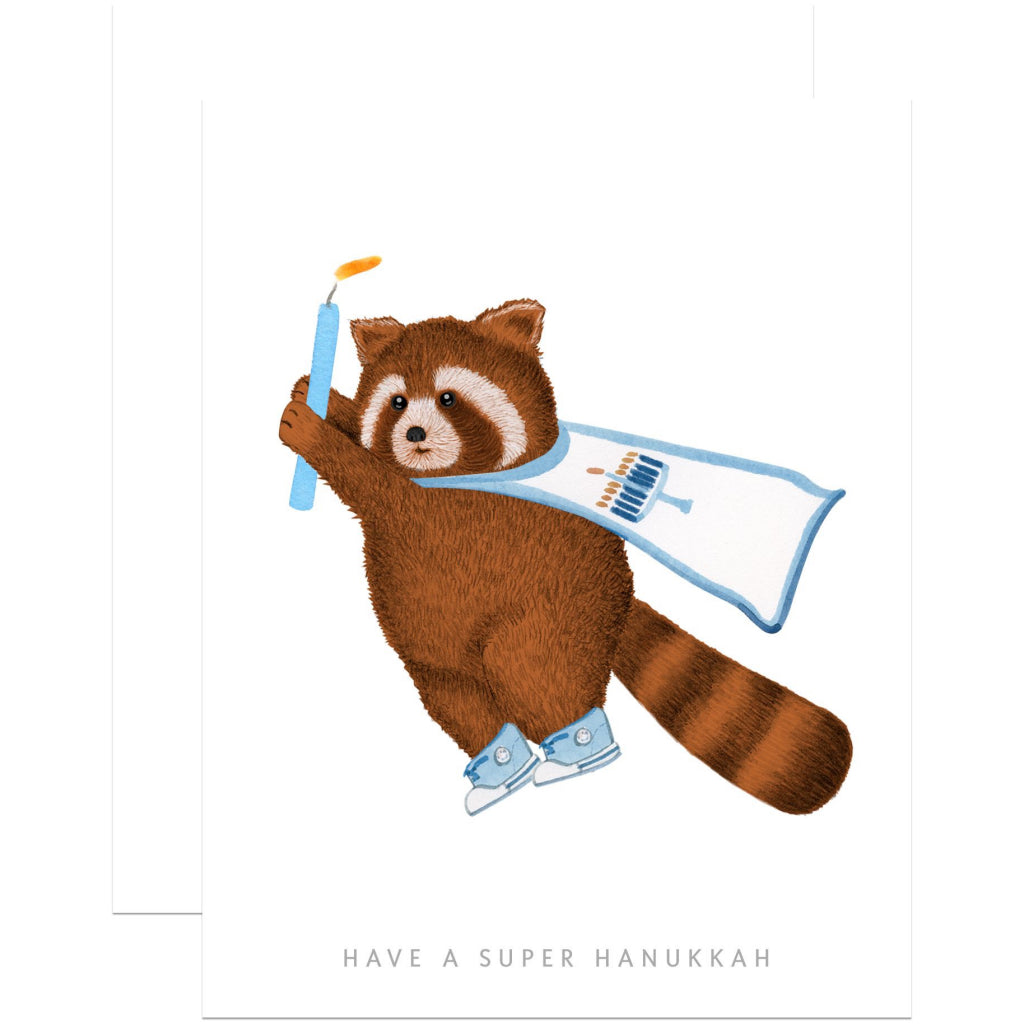 Hanukkah Raccoon Card