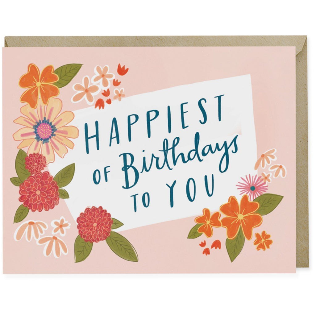 Happiest Of Birthdays Floral Card