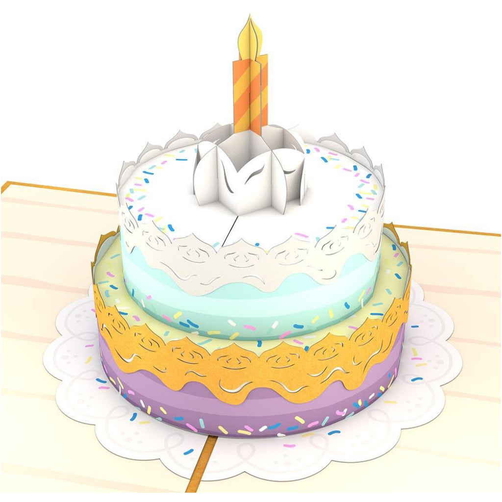 Happy Birthday Cake 3D Pop Up Card