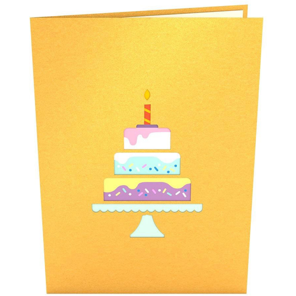 Happy Birthday Cake 3D Pop Up Card Front