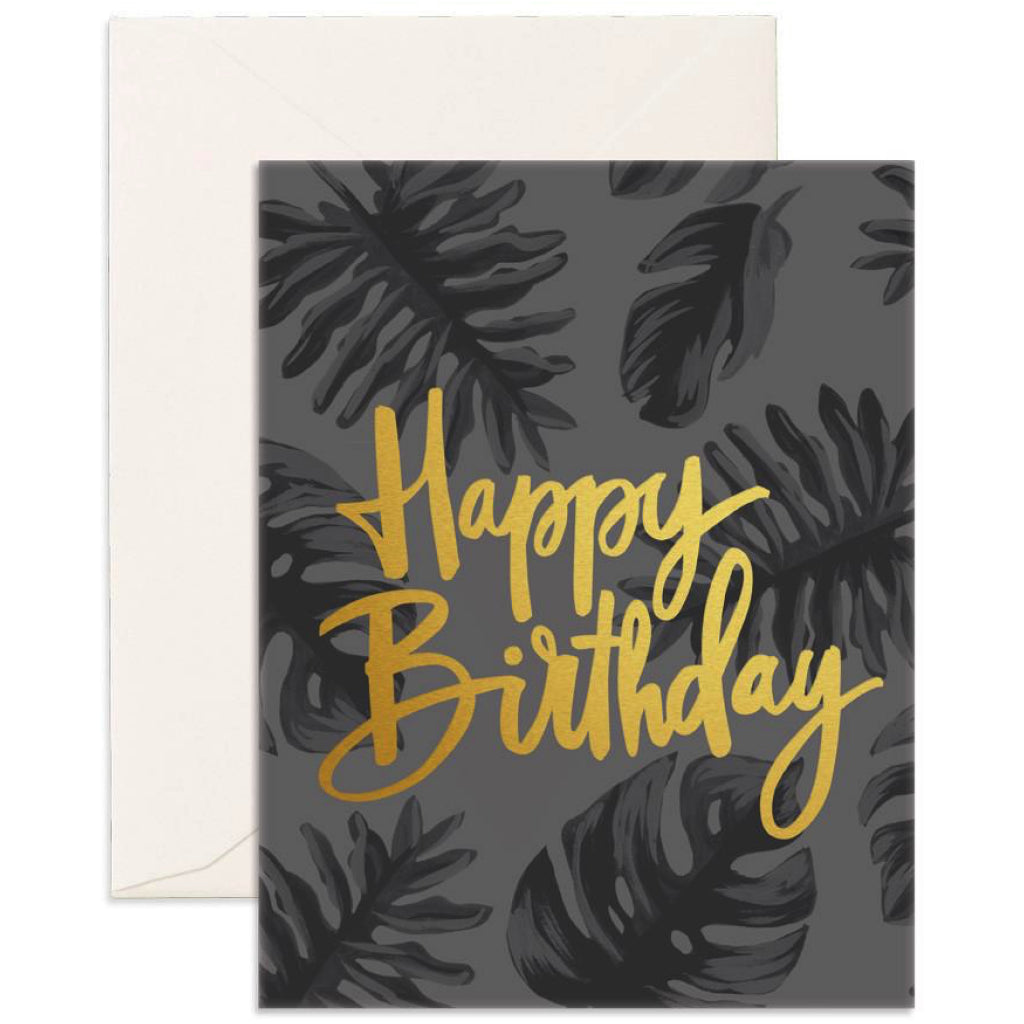 Happy Birthday Gold Card