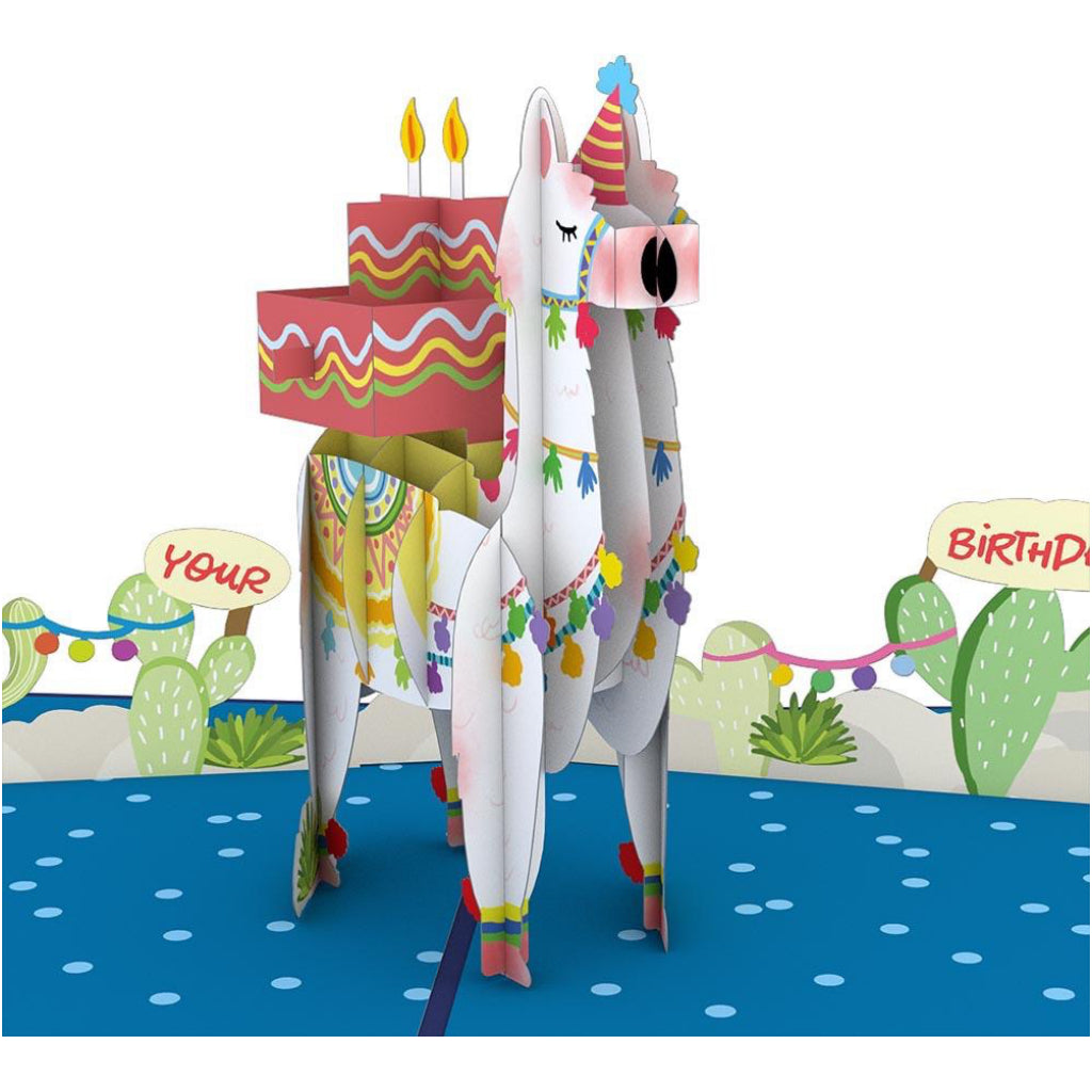 Happy Birthday Llama 3D Pop Up Card