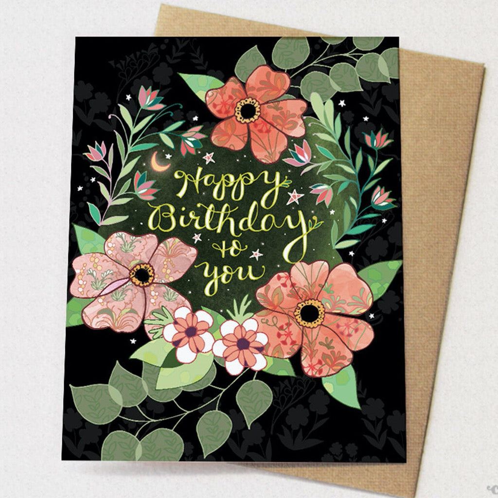 Happy Birthday To You Flowers Card