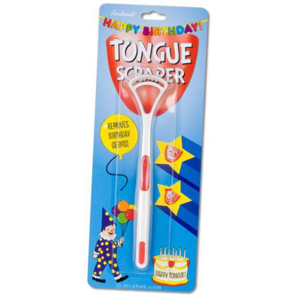 Happy Birthday Tongue Scraper