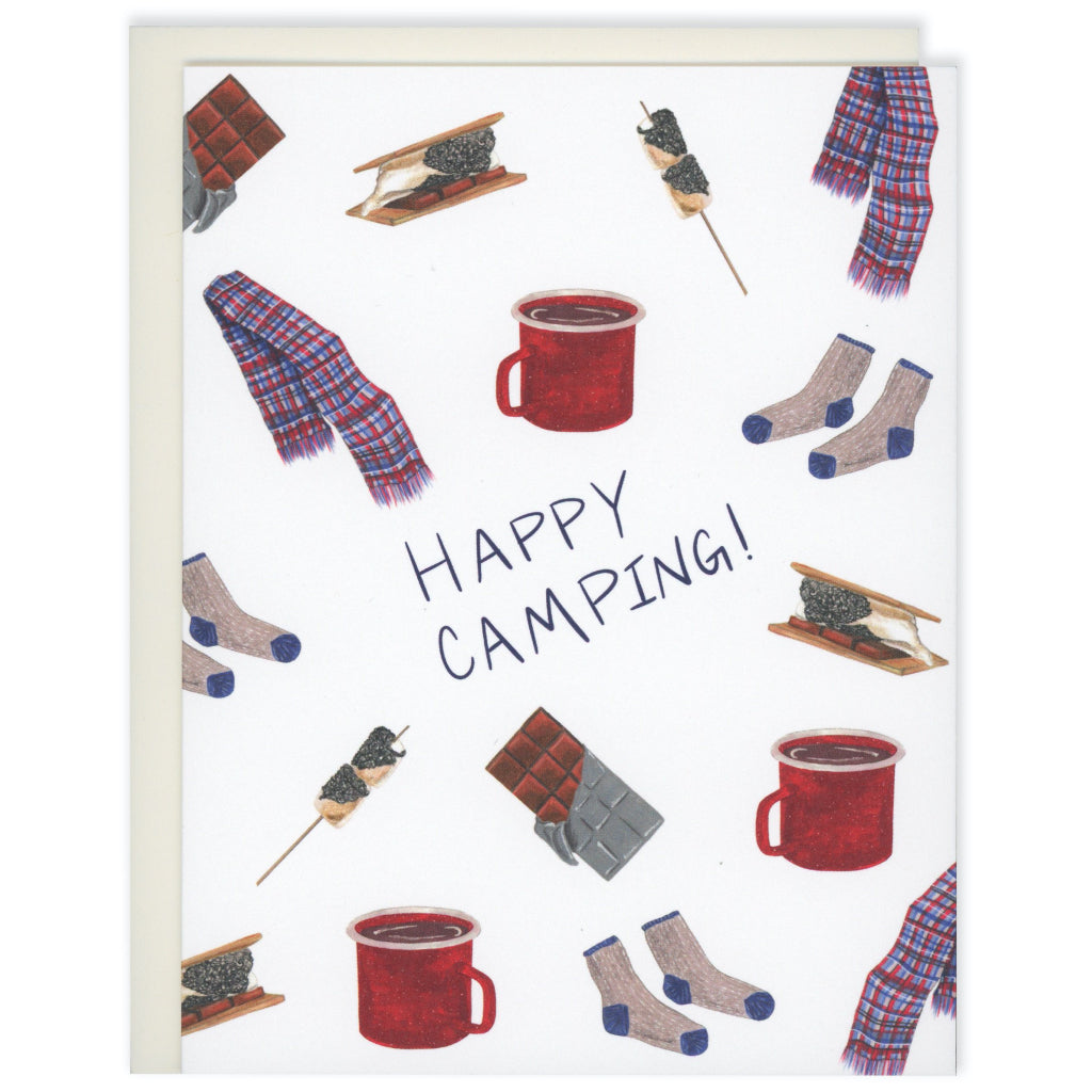 Happy Camping S'mores Card