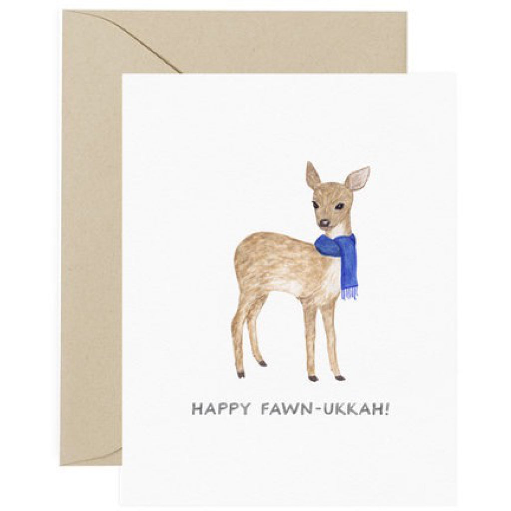 Happy Fawn-ukkah Card
