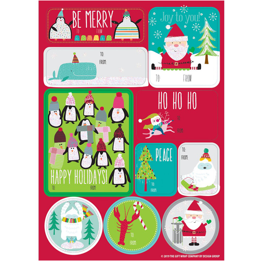 Happy For The Holidays Label Sheets