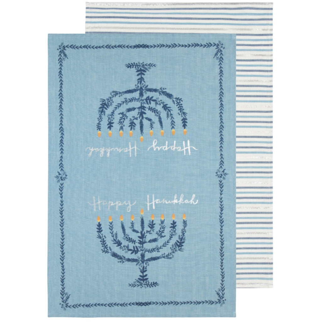 Happy Hanukkah Tea Towels Set of 2