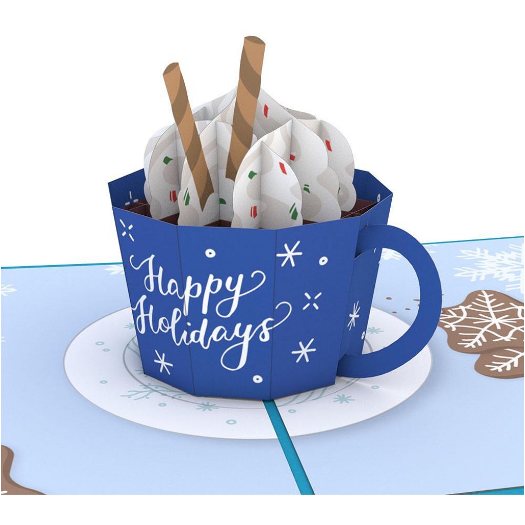 Happy Holidays Mug 3D Pop Up Card
