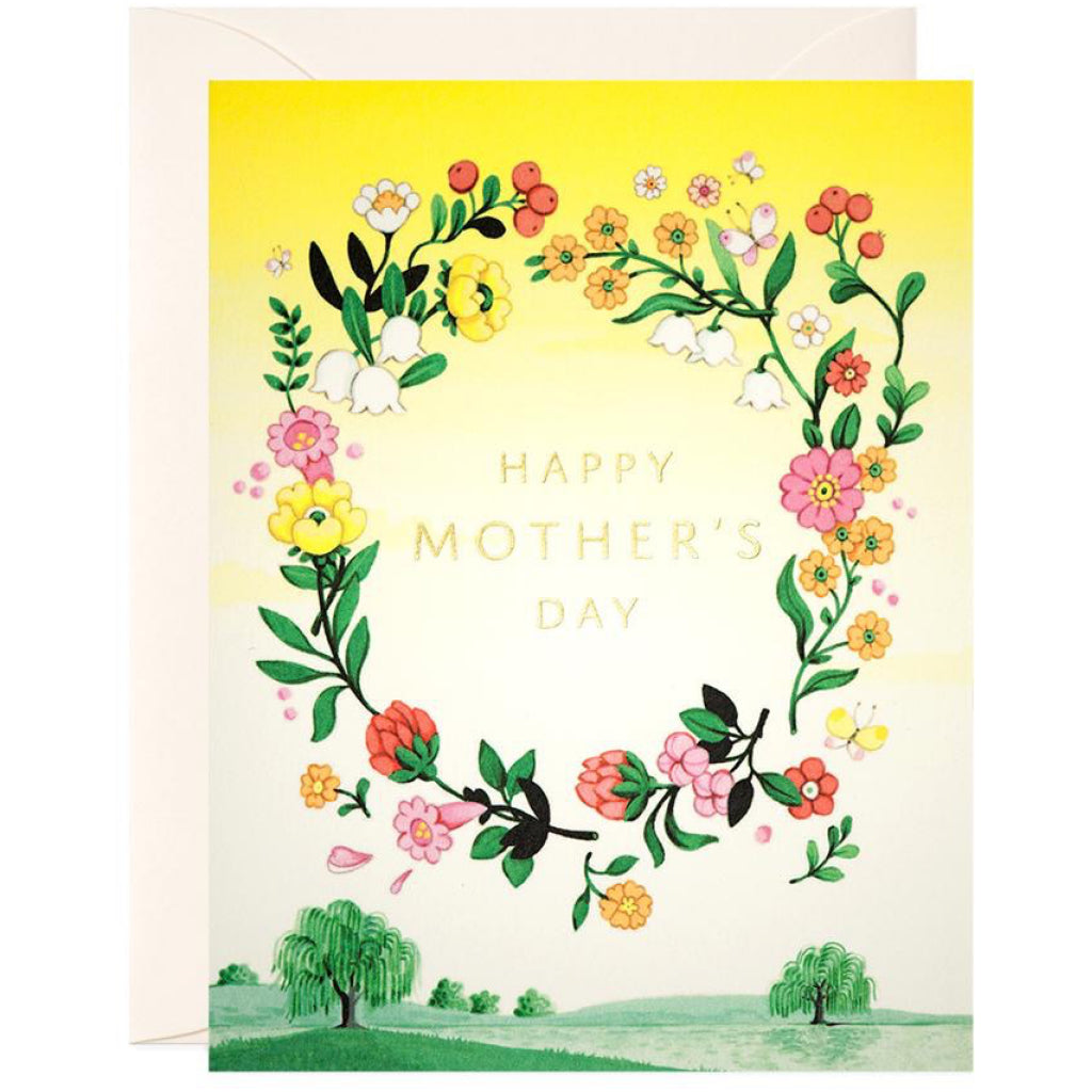 Happy Mother's Day Wreath Card