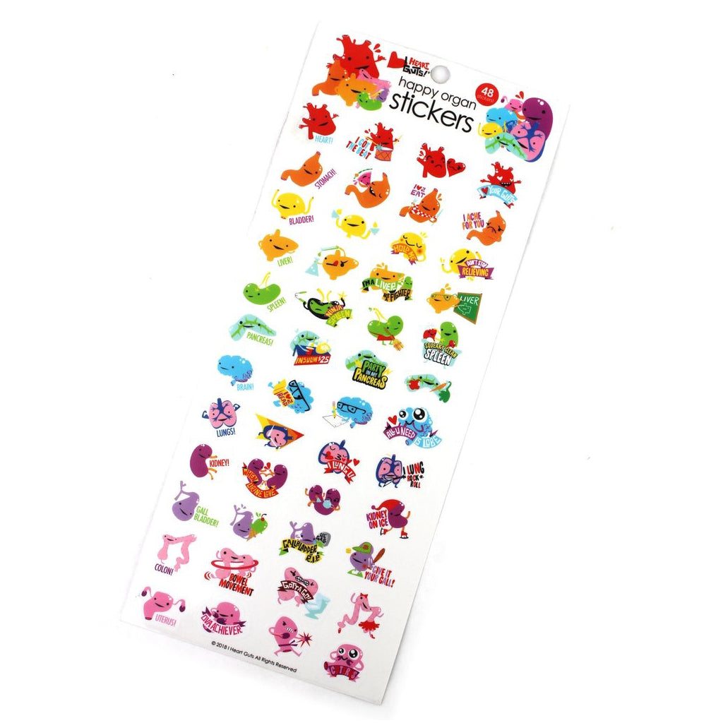 Happy Organ Stickers 10 Pack