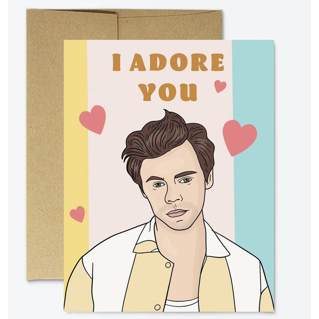 Harry Styles I Adore You Card