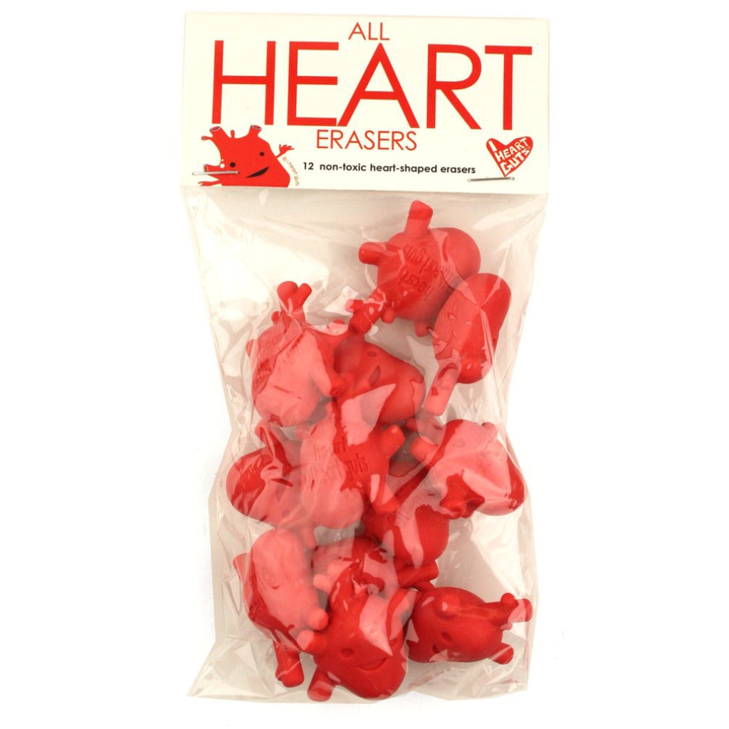 Heart Erasers package