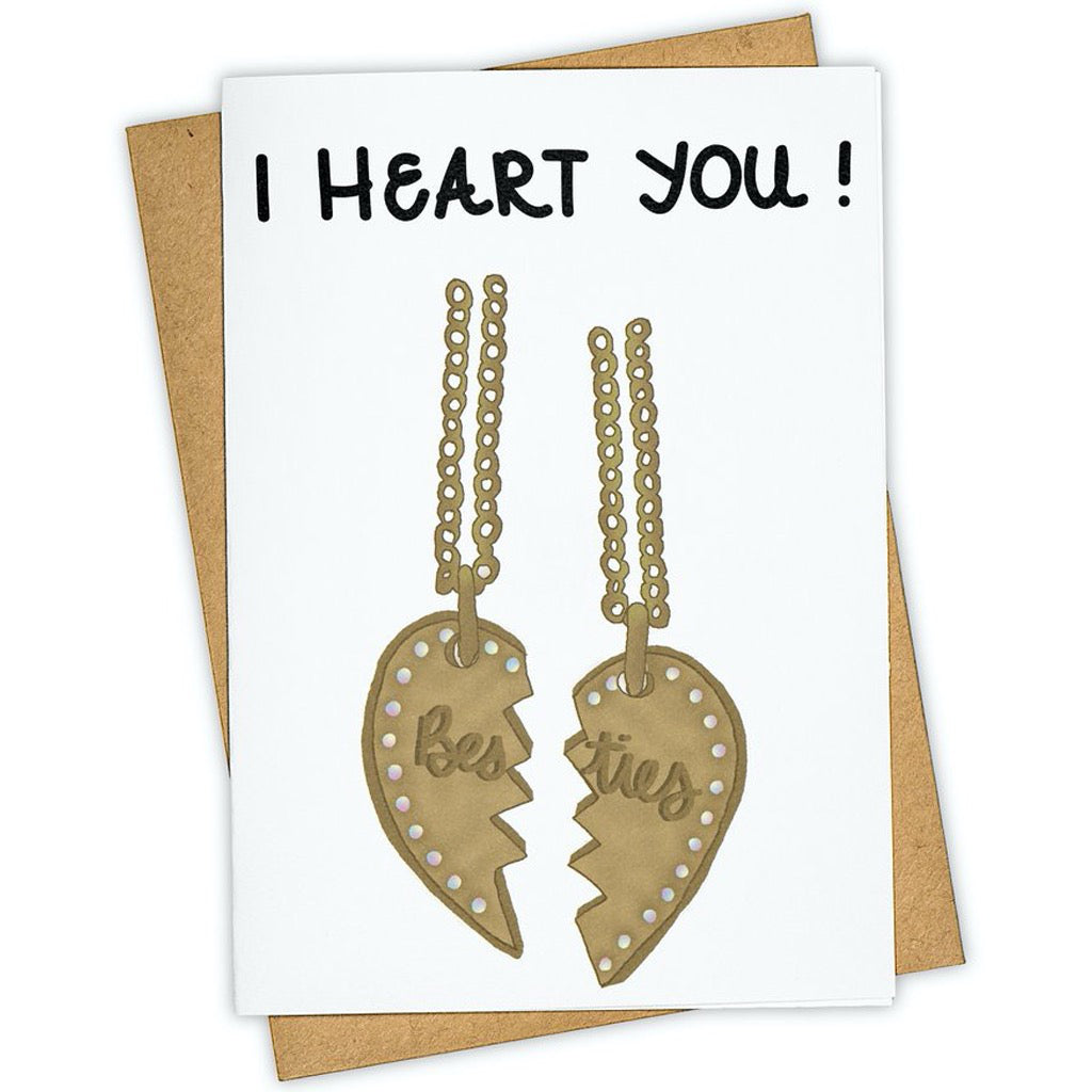 Heart You Necklace Card