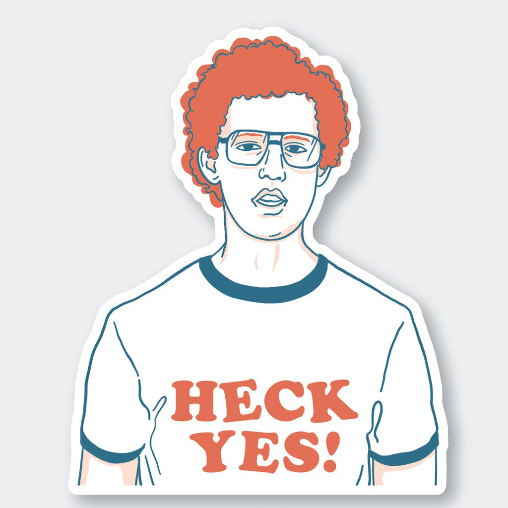 Heck Yes Napoleon Dynamite Sticker