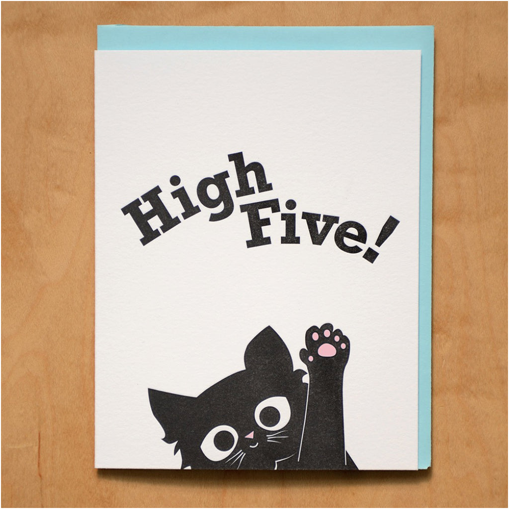 High Five Kitten Card