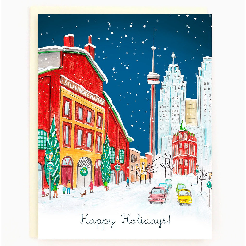 Historic Toronto Holiday Boxed Cards St lawrence market
