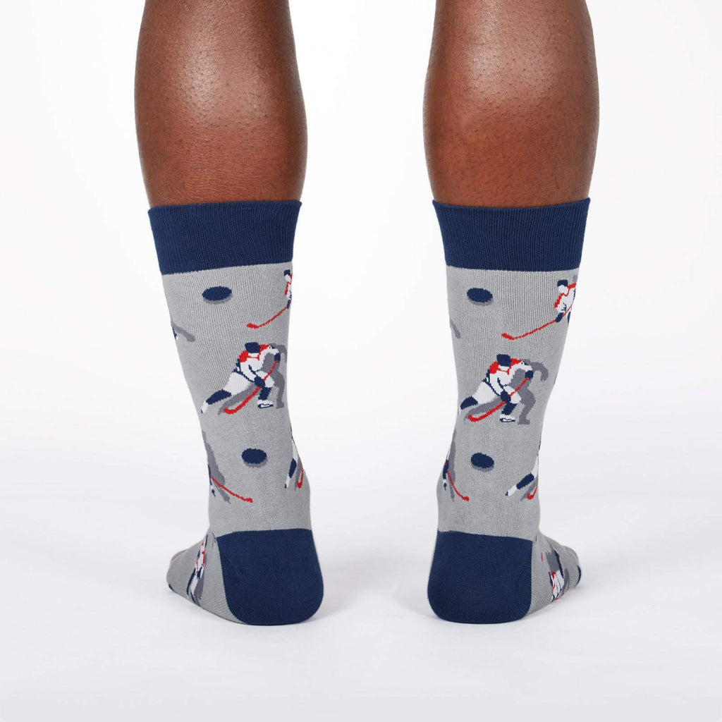 Hockey Players Men's Crew Socks Back