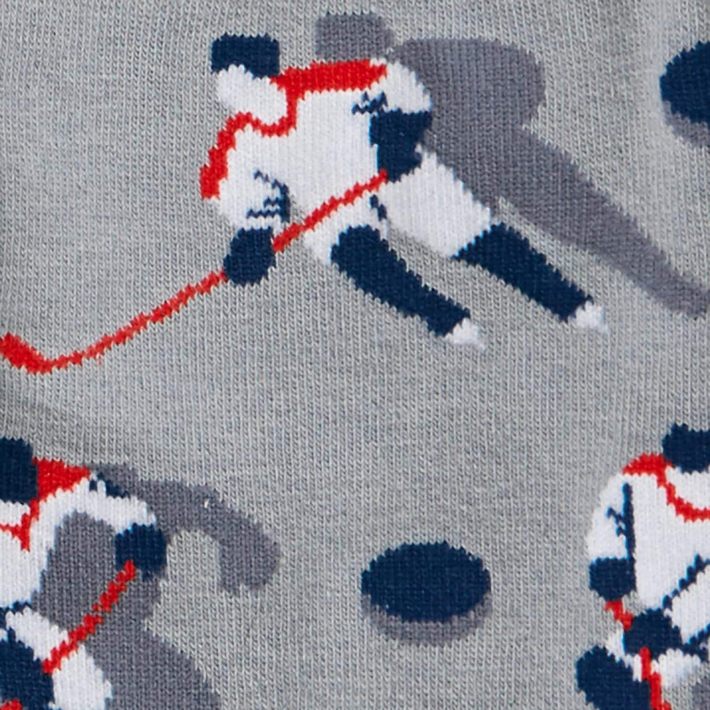 Hockey Players Men's Crew Sock Detail