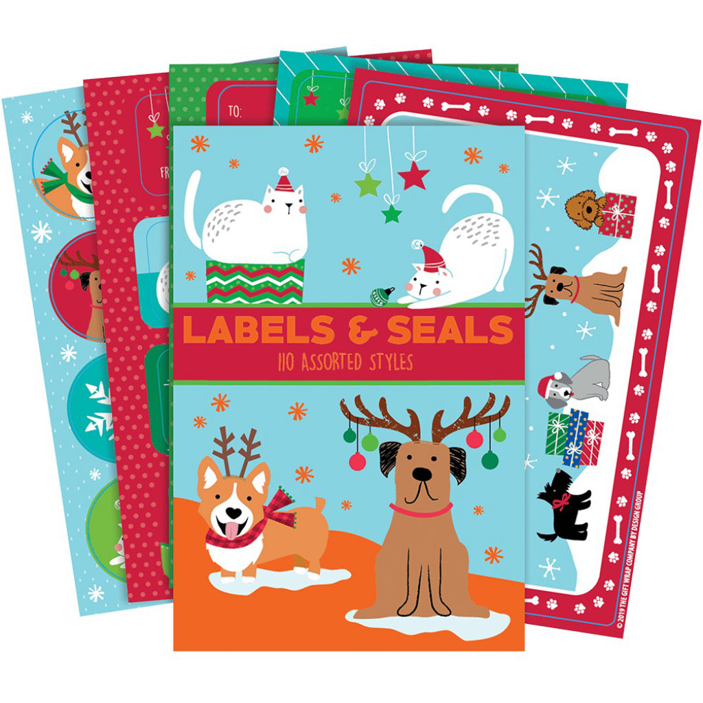 Holiday Pets Labels & Seals