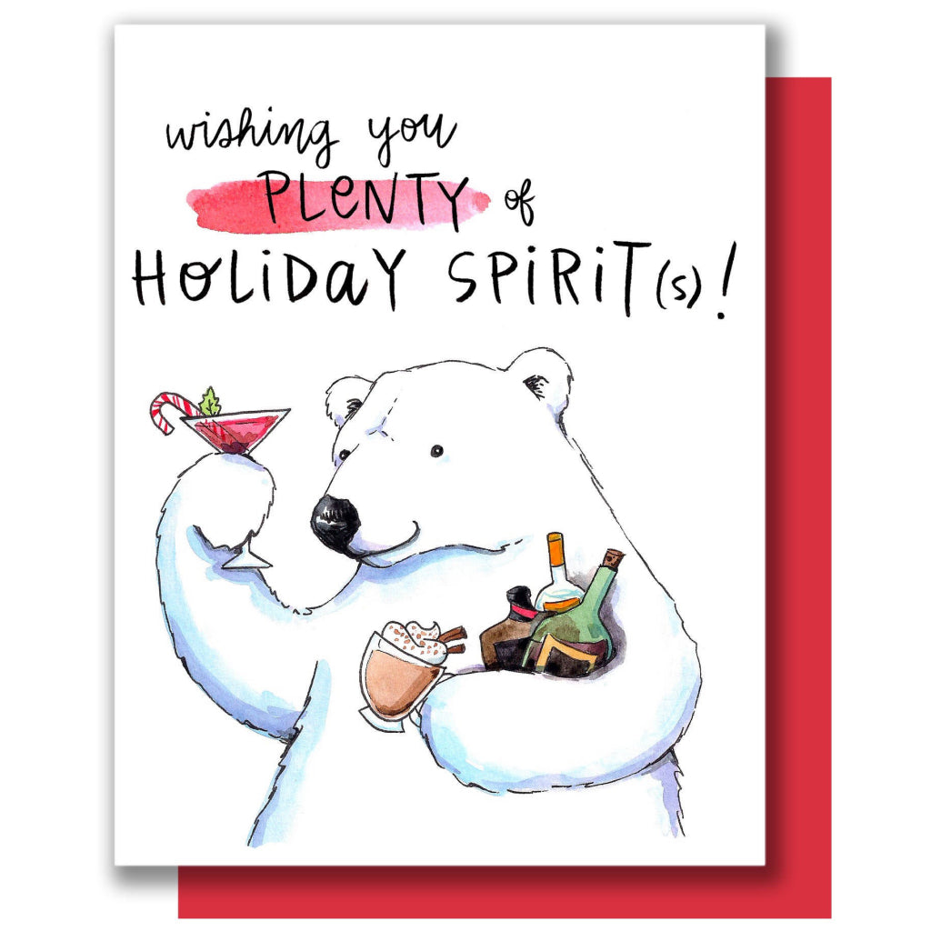 Holiday Spirits Polar Bear Card