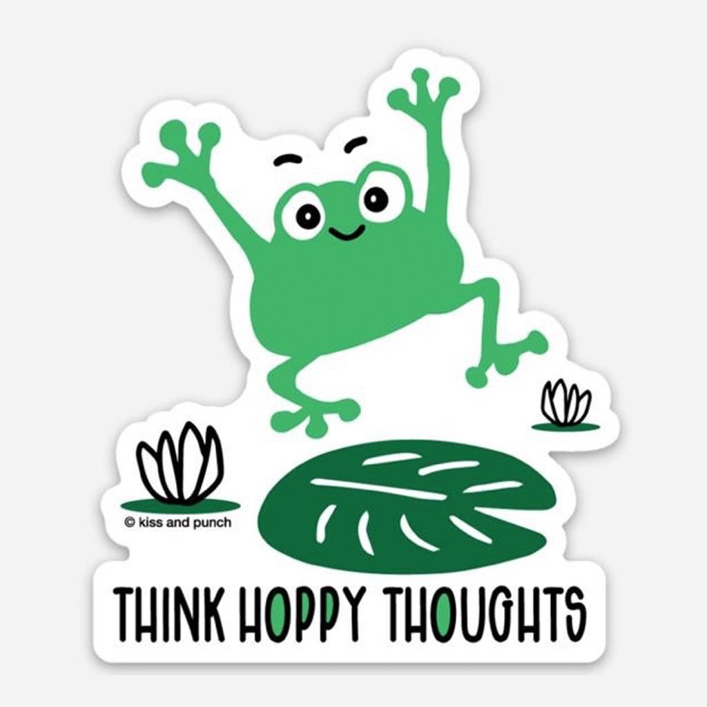 Hoppy Thoughts Frog Sticker