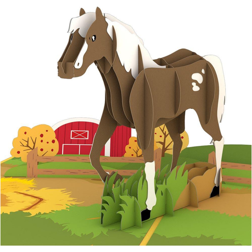 Horse 3D Pop Up Card