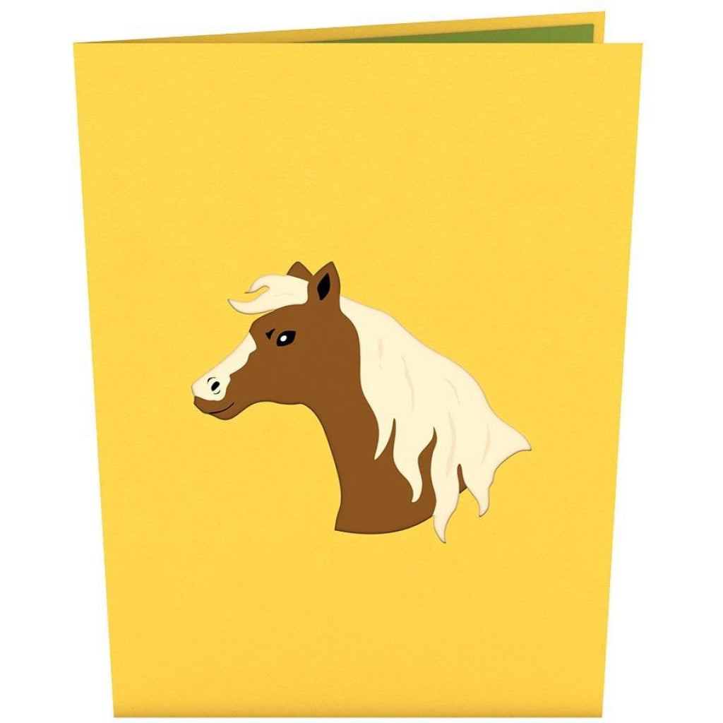 Horse 3D Pop Up Card Cover