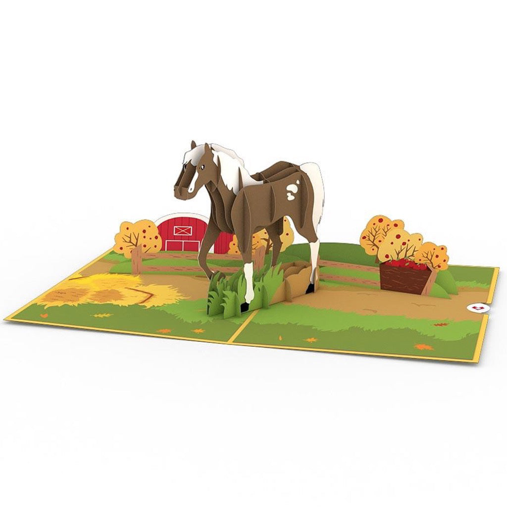 Horse 3D Pop Up Card Full view